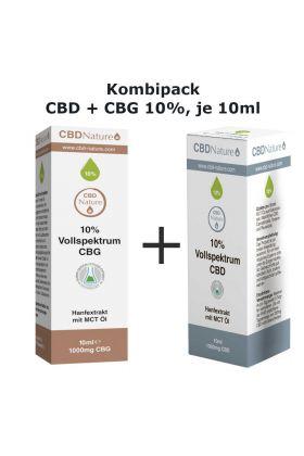 Kombipack CBD und CBG 10% ,  je 10ml