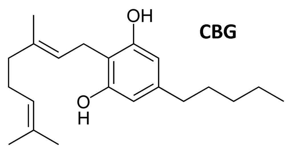 Chemische Formel für CBG Cannabigerol